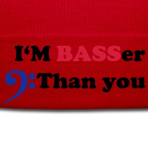 I am BASSer than you, Bass Bassisten Motiv T-Shirts - Wintermütze