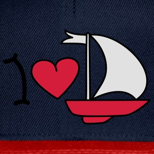 I love sailing T-shirt - Snapback Cap