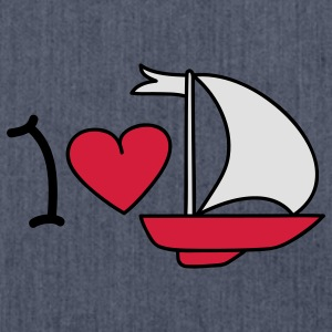 I love sailing T-shirt - Borsa in materiale riciclato