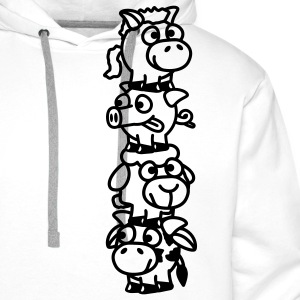smiley_animal_stake_1c T-shirts - Sweat-shirt à capuche Premium pour hommes