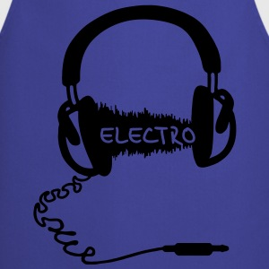 Headphones Audio Wave Motif: Electronic Music Electro  Audiophile   T-Shirts - Cooking Apron