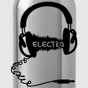 Headphones Audio Wave Motif: Electronic Music Electro  Audiophile   T-Shirts - Water Bottle