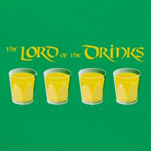 Lord of the Drinks - for green Shirts T-Shirts - Retro Tasche