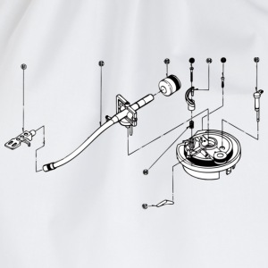 sl1200 exploded view T-shirts - Gymtas