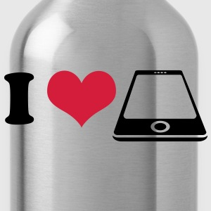 I love Smartphone T-Shirts - Water Bottle