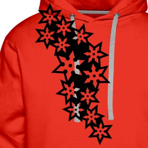 ninja_star_design_outline_1c T-Shirts - Men's Premium Hoodie