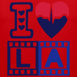 I LOVE LOS ANGELES with metallic golden ink - Débardeur Premium Homme