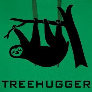 shirt sloth treehugging tree hugger trees forest nature hugg hugging - Men's Premium Hoodie