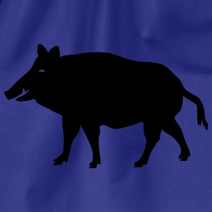 shirt pig wild boar hog - Drawstring Bag