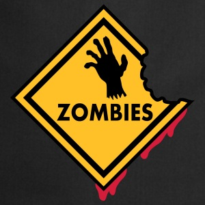 Zombies Sign Bloody T-Shirts - Cooking Apron
