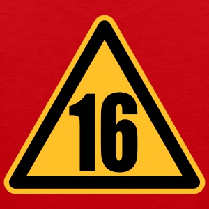 Warning 16 | Achtung 16 T-Shirts - Tank top męski Premium