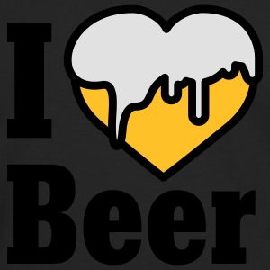 I love Beer | Heart | Beer T-Shirts - T-shirt manches longues Premium Homme