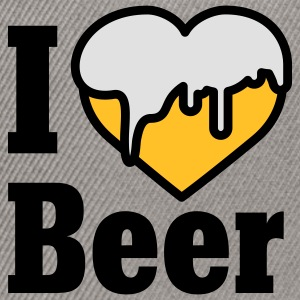 I love Beer | Heart | Beer T-Shirts - Casquette snapback