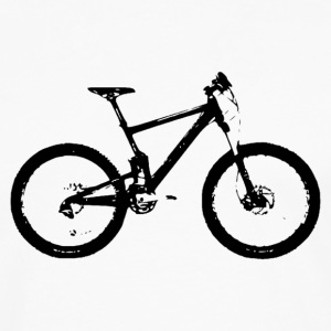 mountain bike - Premium langermet T-skjorte for menn