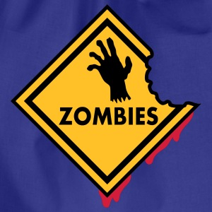 Zombies Sign Bloody T-Shirts - Drawstring Bag