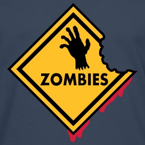 Zombies Sign Bloody T-Shirts - Men's Premium Longsleeve Shirt