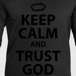 Keep Calm and Trust God - Womens White Text - Men's Sweatshirt by Stanley & Stella