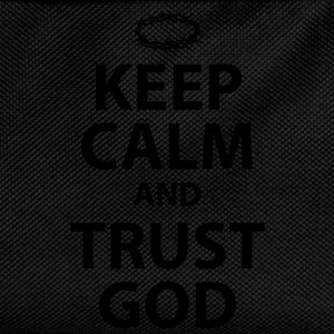 Keep Calm and Trust God - Womens White Text - Kids' Backpack