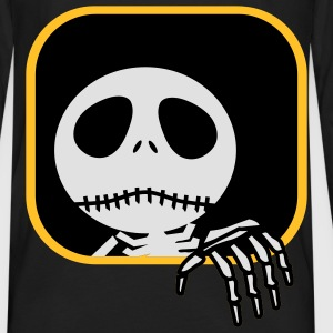 Skeleton at the window - Men's Premium Longsleeve Shirt