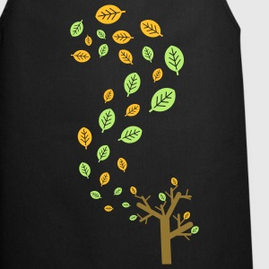 Autumn leaves in the wind - 3 colors T-Shirts - Cooking Apron