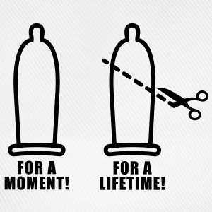 For a moment | Condom | Scissors | Prevention T-Shirts - Baseballcap