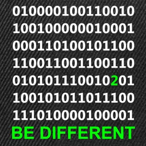 Be Different - Være anderledes - Binary - Digital T-shirts - Snapback Cap