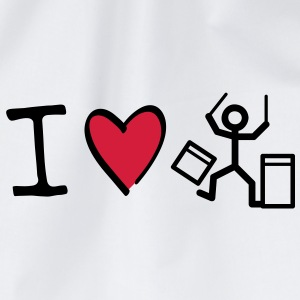 I love drummer T-Shirts - Turnbeutel