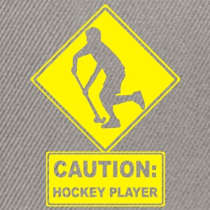 CAUTION: Hockey Player T-Shirts - Snapback Cap