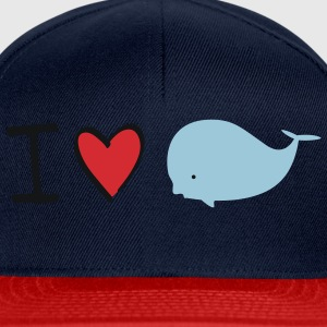 J'aime les baleines Tee shirts - Casquette snapback
