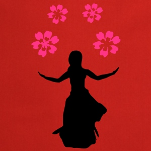 flower girl, silhouette - Cooking Apron