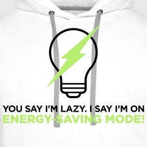 Energy Saving Mode 2 (2c)++ T-Shirts - Men's Premium Hoodie