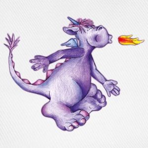 little purple firedragon T-shirts - Baseballcap