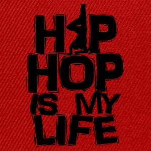 T shirt homme Hip hop is my life - Casquette snapback