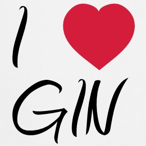 I Love Gin [Alcohol / Alkohol] T-Shirts - Cooking Apron