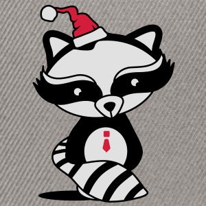 cute raccoon with Santa Hat  T-Shirts - Snapback Cap