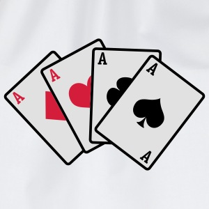 poker cards - Turnbeutel