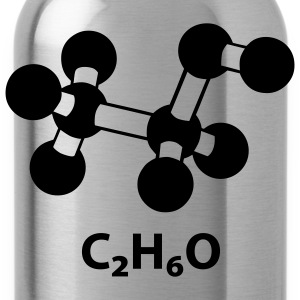 alcohol molecule with formula C2H6O T-Shirts - Water Bottle