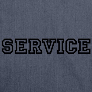 Service T-Shirts - Schultertasche aus Recycling-Material