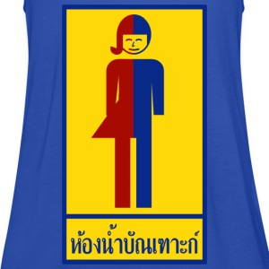 Ladyboy / Tomboy Toilet / Restroom Thai Sign T-Shirts - Women's Tank Top by Bella