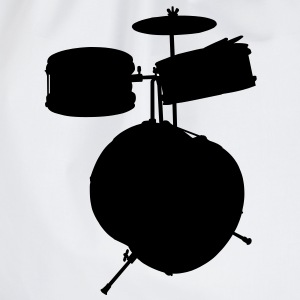 music drums drum set T-shirts - Gymtas