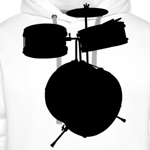 music drums drum set T-shirt - Felpa con cappuccio premium da uomo