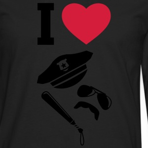 I LOVE - Police - Uniforms - Carnival T-Shirts - Men's Premium Longsleeve Shirt