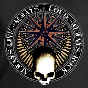 rock_and_roll_and_skull_and_pentagram_n Camisetas - Sudadera hombre de Stanley & Stella