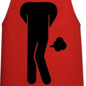 Funny Farting Restrooms / Toilet Sign (Headless) T-Shirts - Cooking Apron