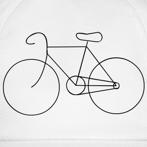 bike cycle cycling logo sport bicycle Tee shirts - Casquette classique