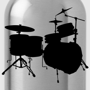music drums drum set Koszulki - Bidon