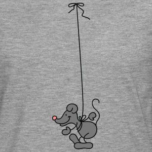 The Mouse hangs around T-shirts - Herre premium T-shirt med lange ærmer