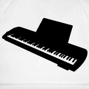 music keyboard piano T-shirts - Basebollkeps