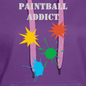paintball addict design Tee shirts - Sweat-shirt à capuche Premium pour femmes