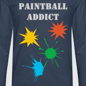 paintball addict design Tee shirts - T-shirt manches longues Premium Homme
